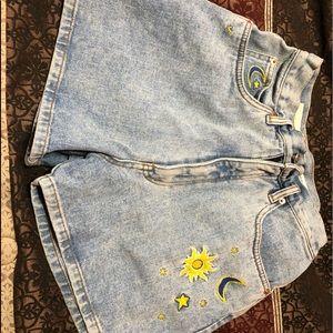 High rise vintage mom jean shorts